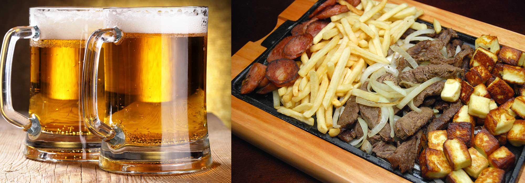 Cerveja Gelada e melhores Petiscos